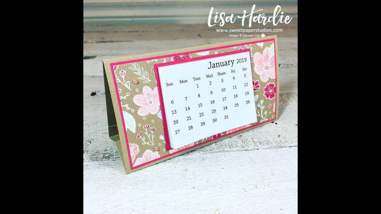 Easy Desktop Calendar Tutorial W Video Diydesktopcalendar Allmylovedsp Sweetpaperstudios Diyca Desktop Calendar Mini Calendars Calendar Design Inspiration
