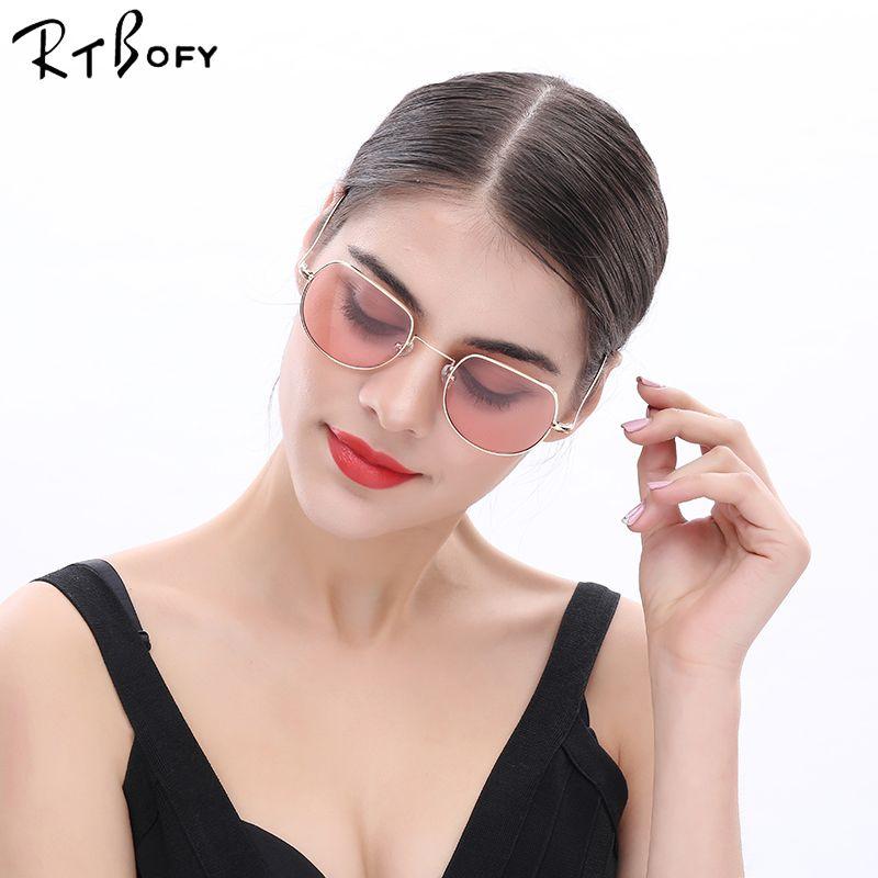 RTBOFY New Fashion Round Sunglasses Women Brand Designer Female Sunglass Points Sun Glasses For Women Men Lady Sunglass Mirror