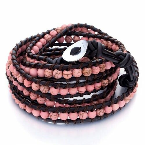 Pink and brown wrap