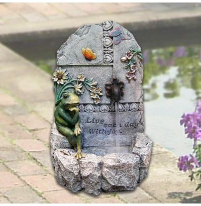 20 Inspirational Fountain With Frog W Light At Garden And Pond Depot