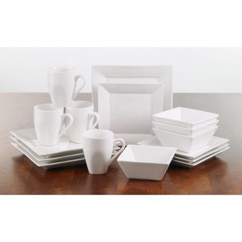 Roscher 16-pc. Square White Dinnerware Set  sc 1 st  Pinterest & Roscher 16-pc. Square White Dinnerware Set | White dinnerware ...