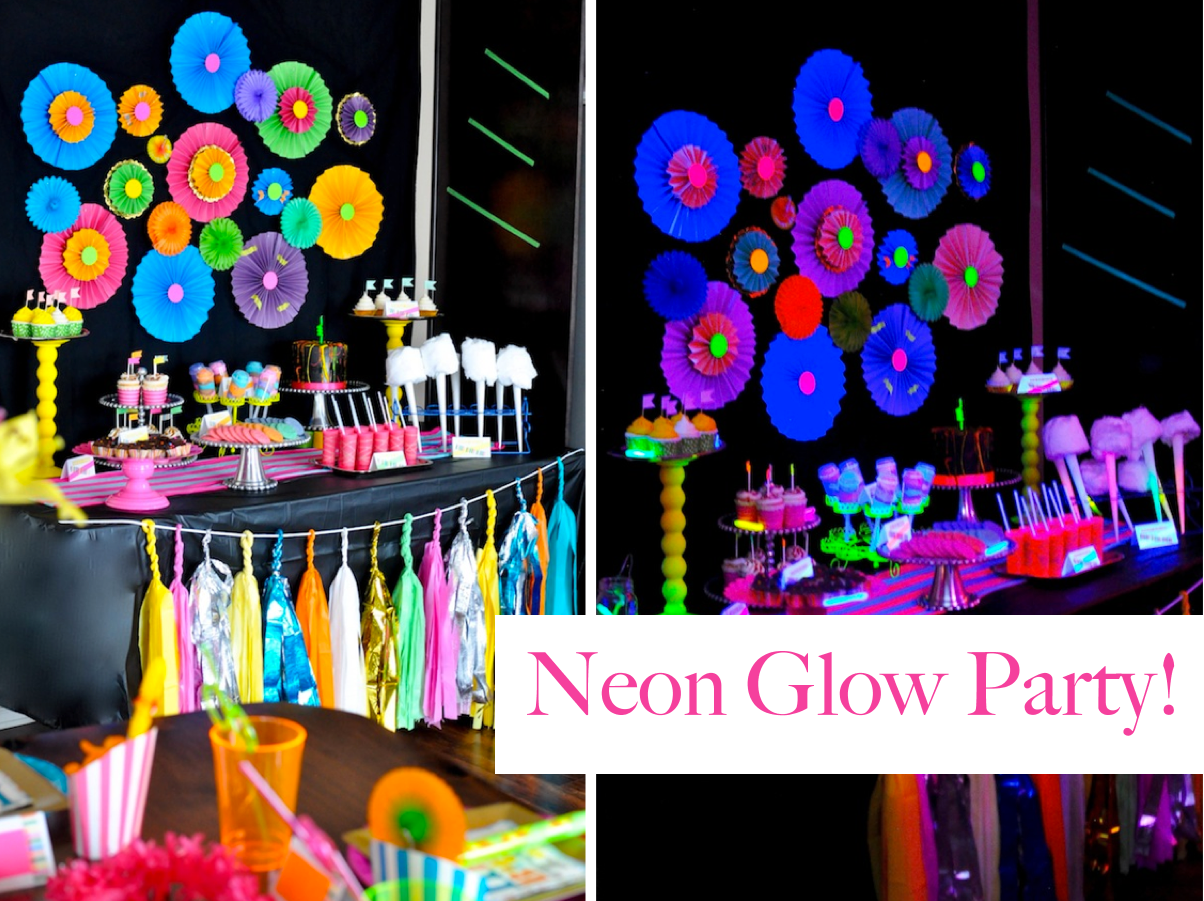 neon glow in the dark themed birthday party amazing party, but i