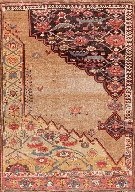 Antique Persian Bidjar Sampler Wagireh Rug Persian
