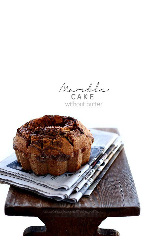 Ciambella Marmorizzata senza burro - marble cake