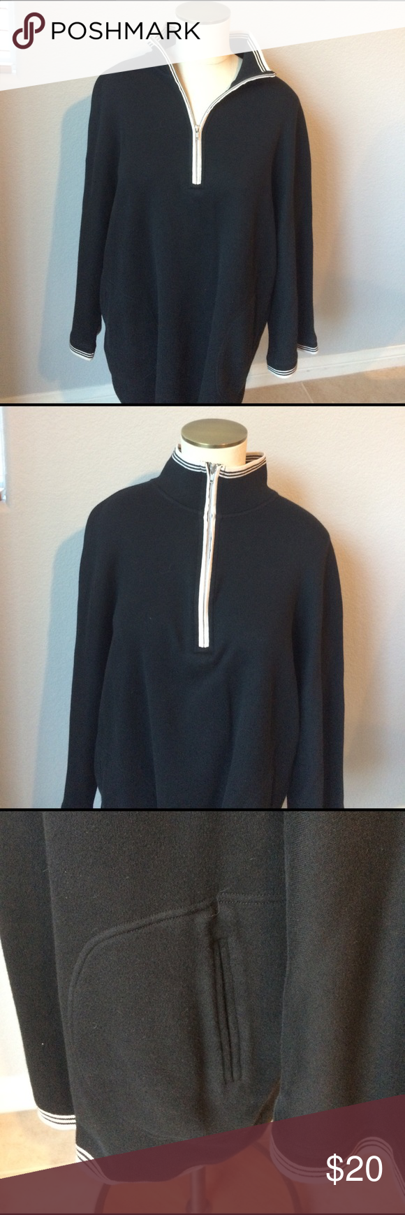 """Neiman Marcus Neiman Marcus dress sweatshirt. It is marked as a large but fits like an extra large. Pit to pit is 25"""". Length is 29"""" Neiman Marcus Tops Sweatshirts & Hoodies"""