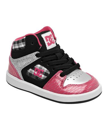 Another great find on #zulily! Pink & Black Union Hi-Top Sneaker - Kids by DC #zulilyfinds