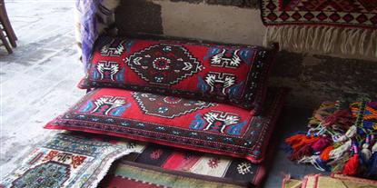 Turkish & Afghan Large Floor Cushions - buy online uk - Rug Store ...