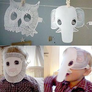 M scaras de carnaval para ni os caretas para imprimir manualidades para carnaval y halloween - Mascaras para carnaval manualidades ...