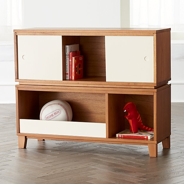 District 3 Cube Wood Stackable Bookcase Crate And Barrel