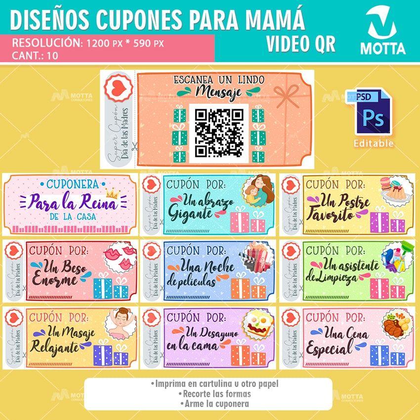 10 Diseños De Cupones De Regalo Para Dar A Mama En Su Día Diseño De Cupón Cupones Para Novio Cupones Para Imprimir