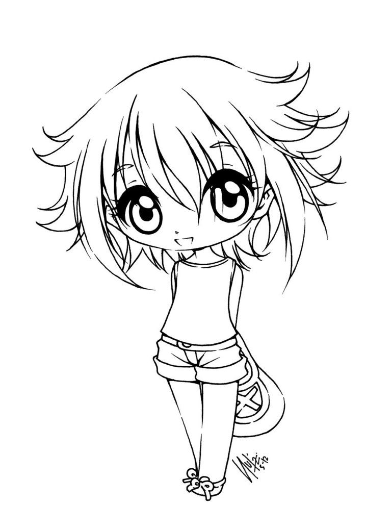Sureya S Deviantart Gallery Chibi Coloring Pages Coloring Pictures Anime Lineart