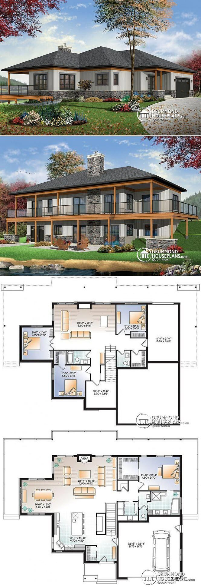 Pin By Maria Duran On 2 Floors 4 Bedrooms House Plans Vintage House Plans Small Villa