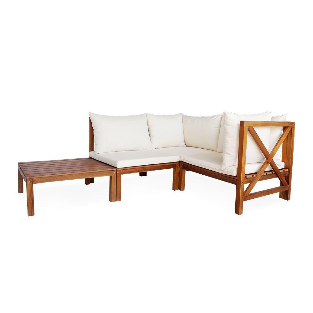Buy Luxo Bala Wooden Modular Outdoor Sofa Setting Online ... on Luxo Living Outdoor id=15648