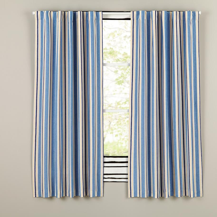 Side Striped Blackout Curtains The Land Of Nod Cool Curtains