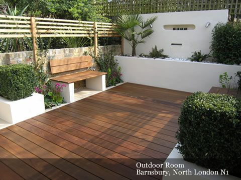 Could Scale For A Smaller Patio Love The Floor Bench And Planter Contemporary Gardensmodern