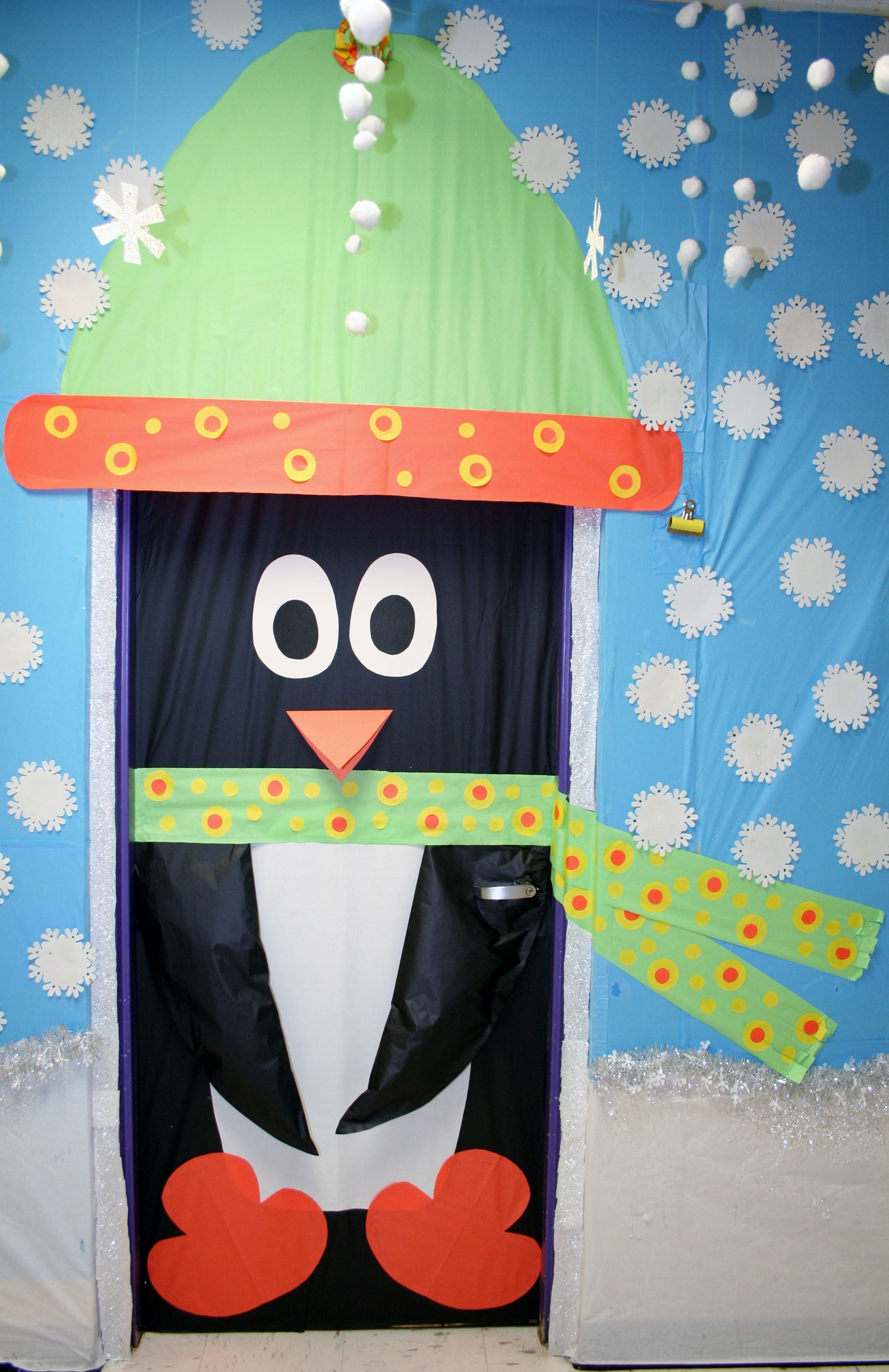 Thanksgiving Door Decoration Ideas Classroom ~ Classroom penguin door decoration crafts