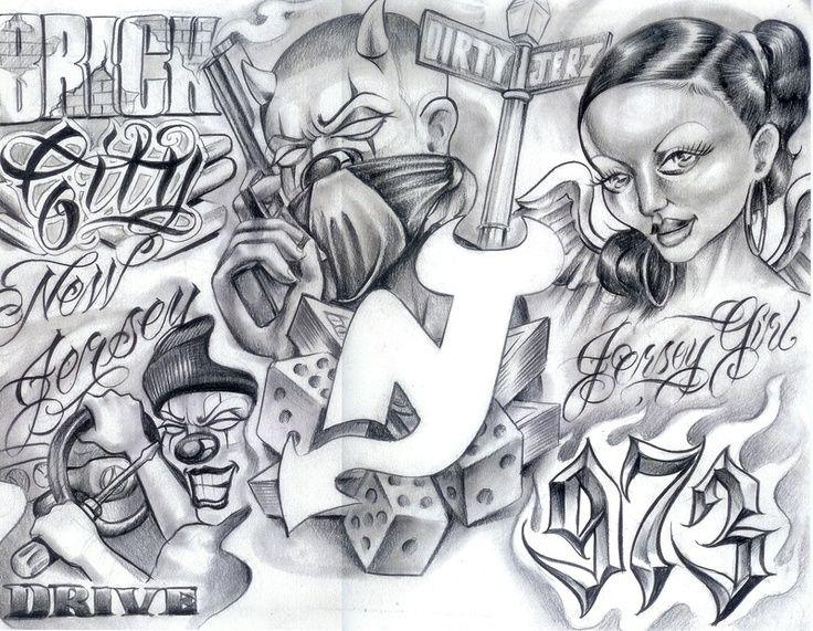 e0c4e0fa70498 Baby Gangster Love Art | Gangster Tattoo Flash Art | Ideas for the ...