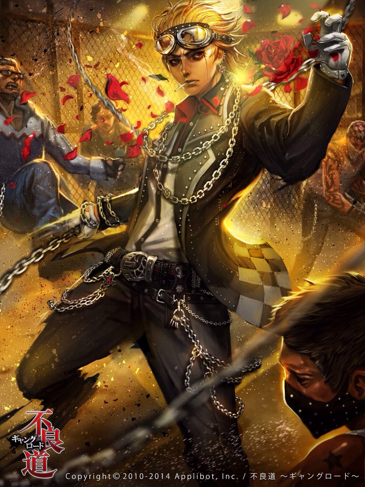 Gran guerrero Anime, Gang road, Character art