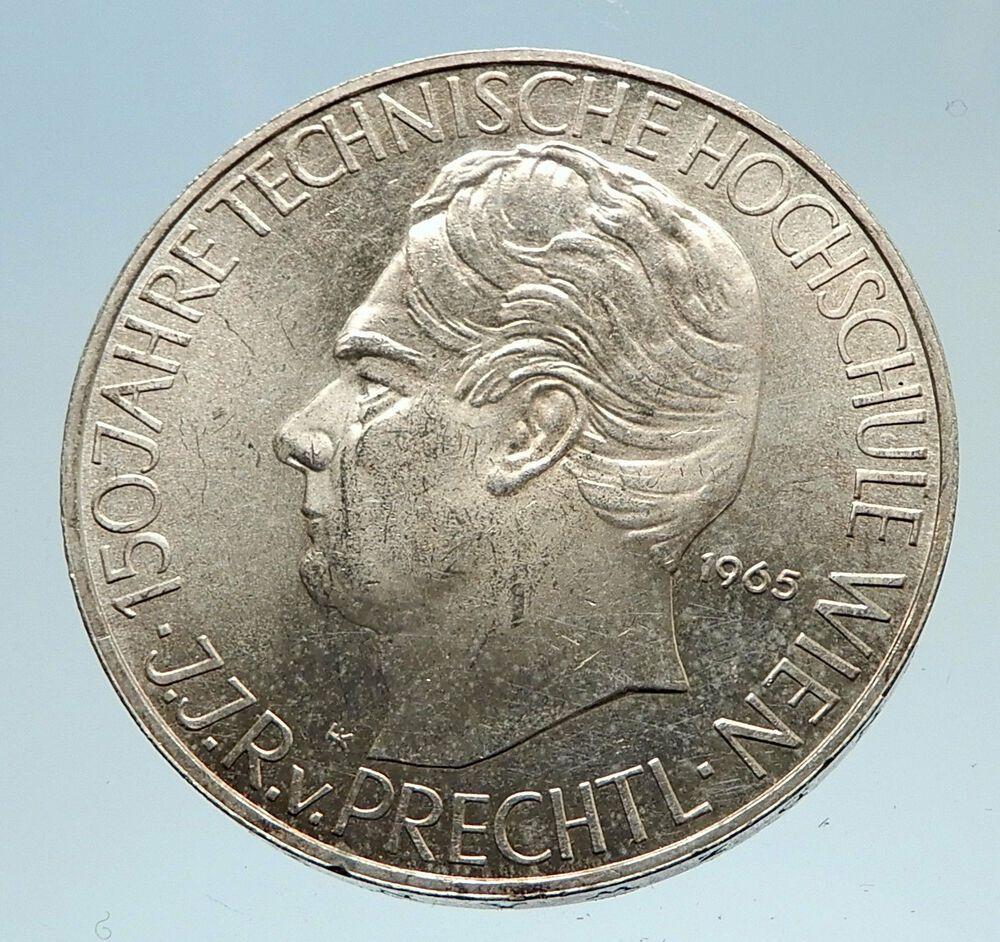 1965 Austria Vienna Tech School J J Von Prechtl Silver 25