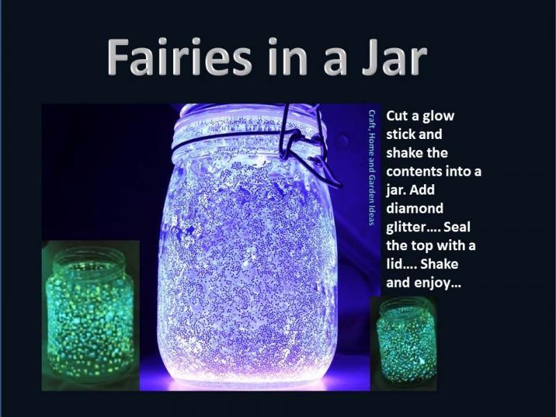 sticks Fairy glow jars mason with