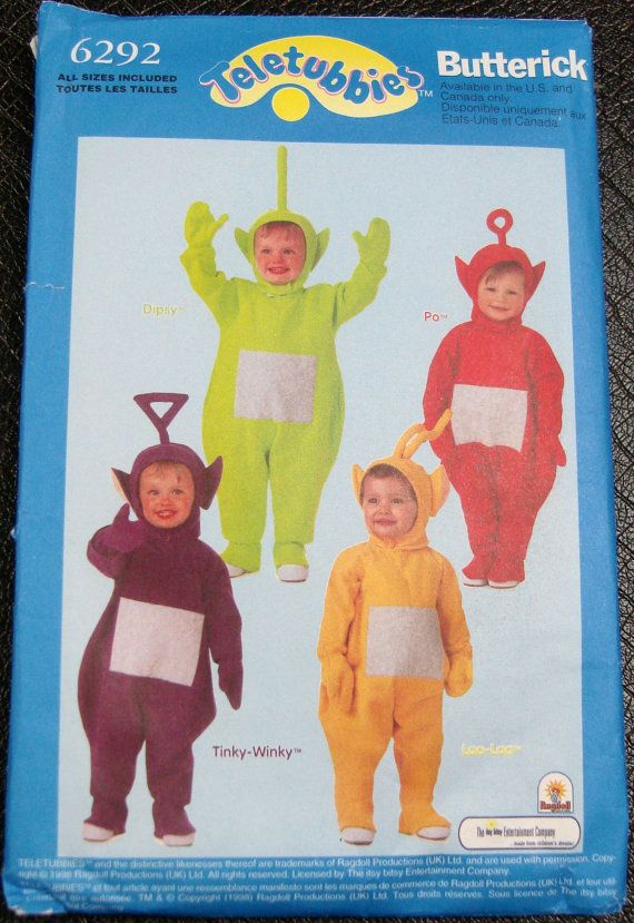 Teletubbies Costume Sewing Pattern Butterick 6292 Infant Sizes via ...