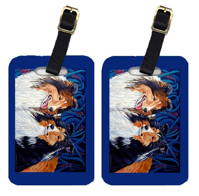 Pair of 2 Sheltie Luggage Tags