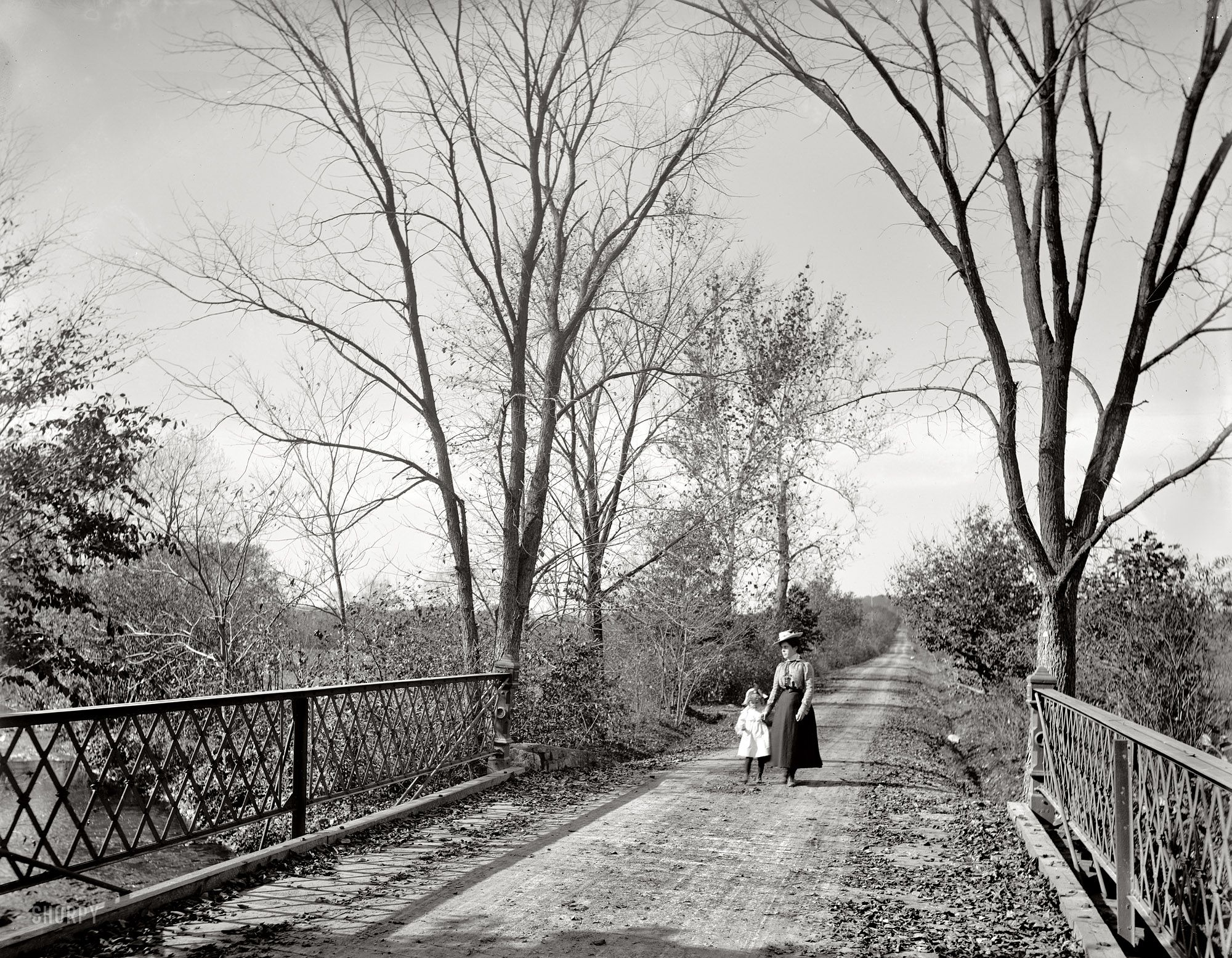 """The Stroll New Jersey circa 1900. """"Mine Brook Road, Far"""