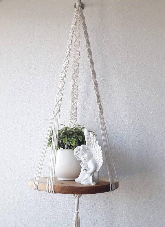 Photo of Macrame hanging shelf