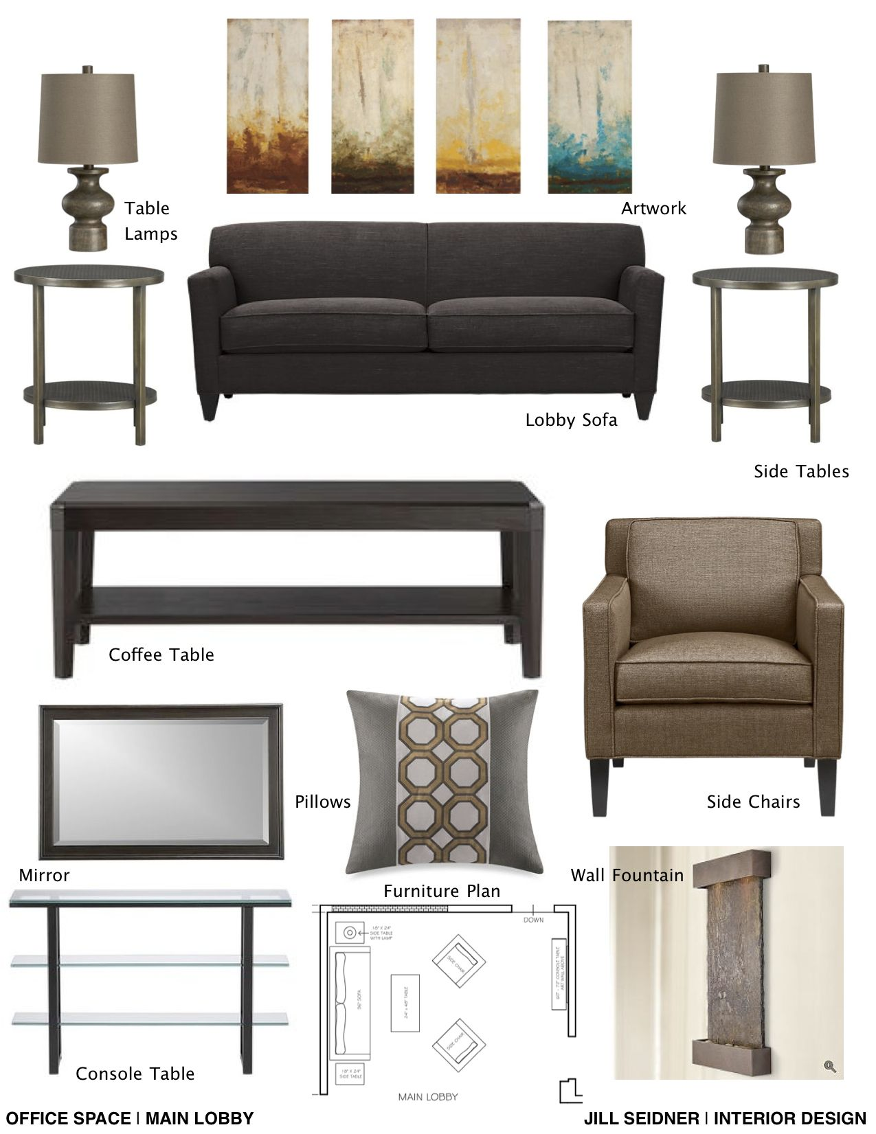 Professional Room Designer: Concept Board For Therapist Office. (With Images