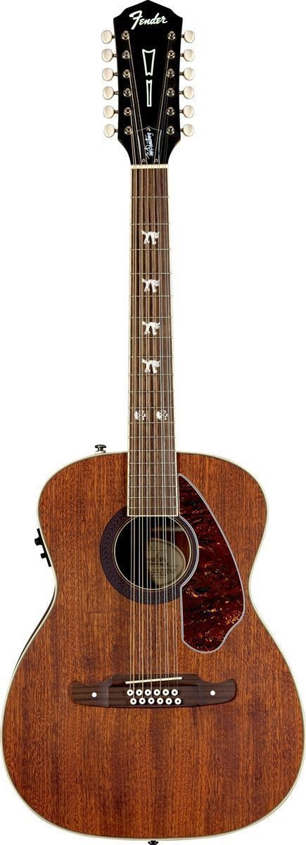 fender tim armstrong hellcat 12 12 string acoustic electric guitar natural solid mahogany. Black Bedroom Furniture Sets. Home Design Ideas