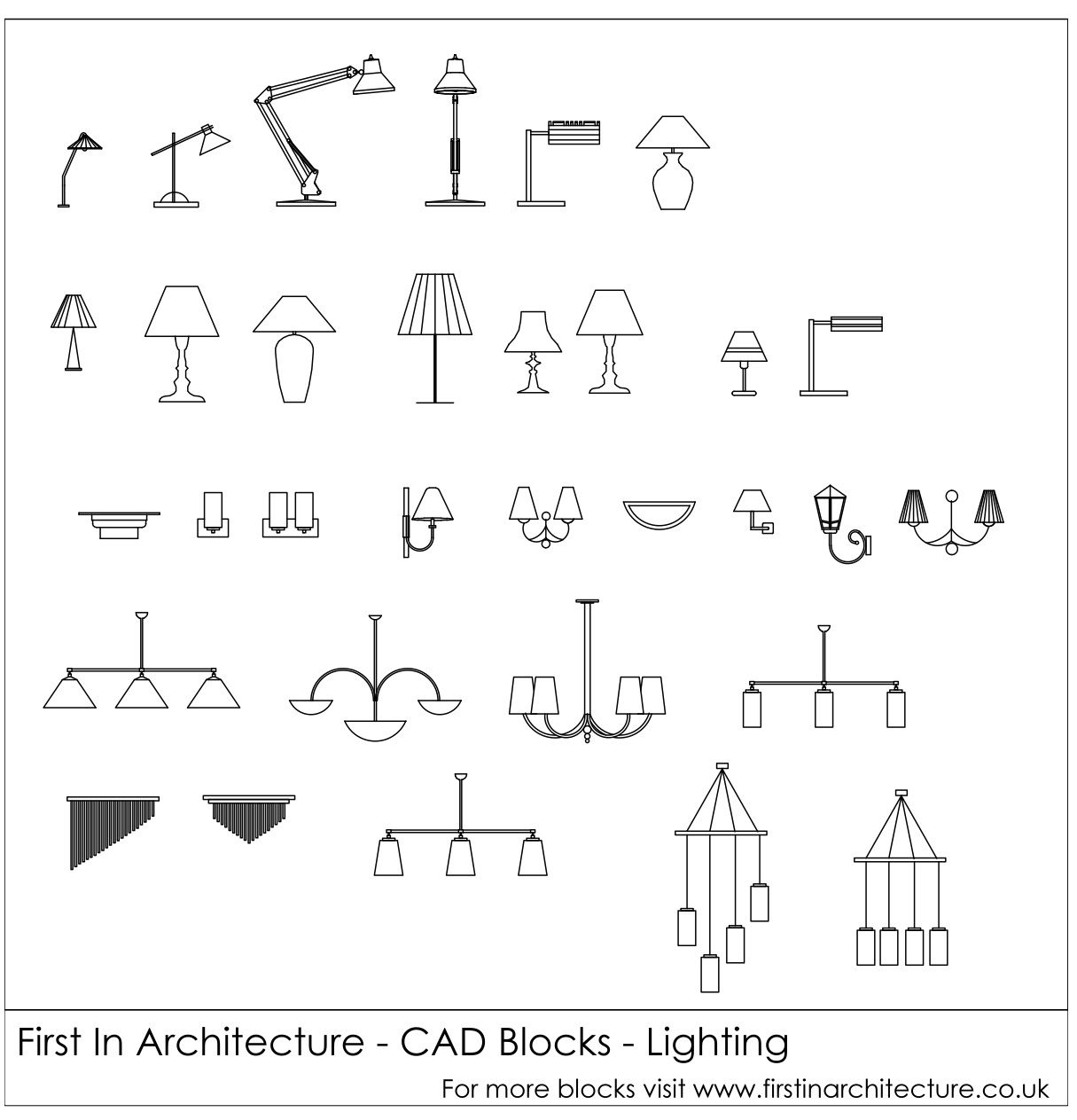 Wall Lamps Autocad Blocks : Free CAD Blocks Lighting via @1starchitecture autocad Pinterest Lamp table, Desk lamp ...