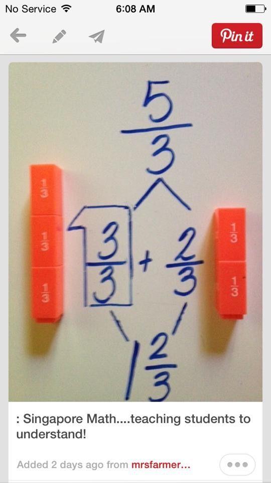 Singapore math fractions | math | Pinterest | Lernen