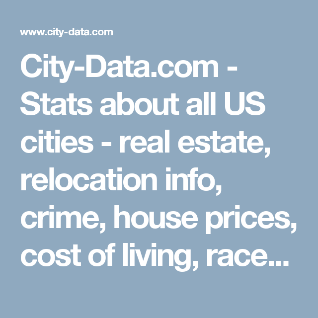 CityDatacom Stats About All US Cities Real Estate - Us Cities Crime Data Maps