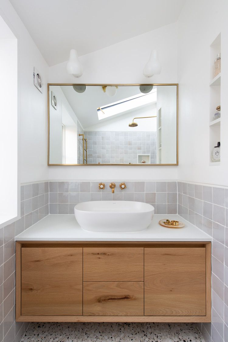 8 Small Bathroom Backsplash Ideas That Will Make A Big Statement Hunker Bathroom Backsplash Small Bathroom Modern Bathroom Tile New bathroom backsplash ideas home