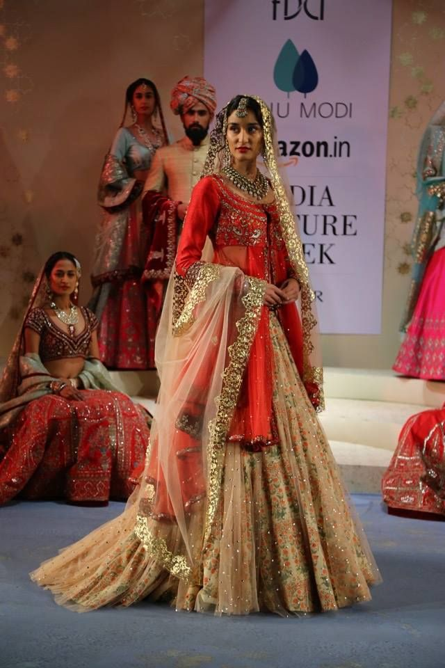 Loving The Train On This Gorgeous Brideal Lehenga With A More Traditional Look
