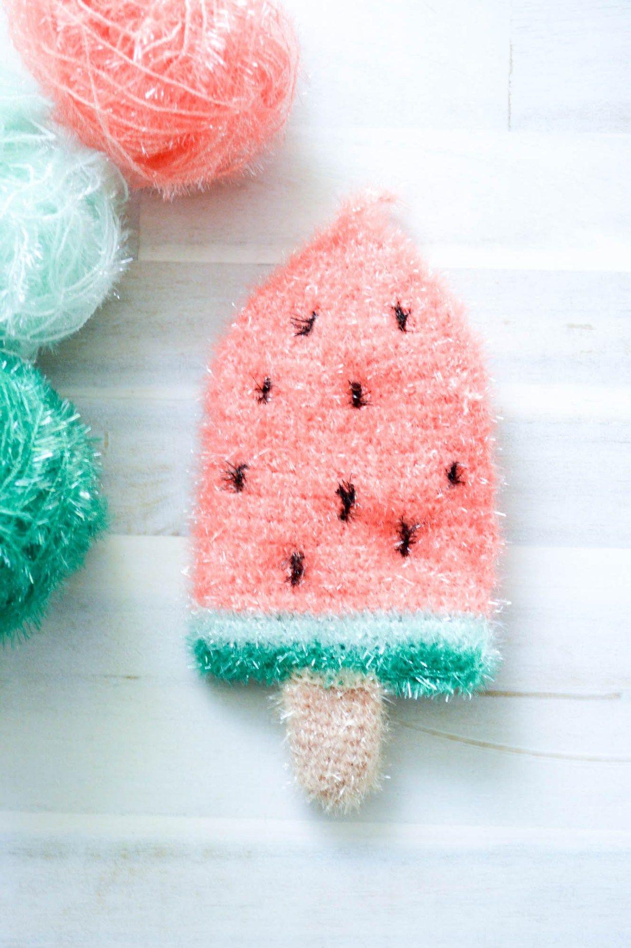 Melonen Popsicles Schwamm Häkeln Anleitungen Pinterest
