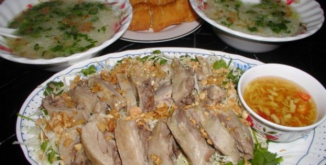 duck cooked with ginger fish sauce