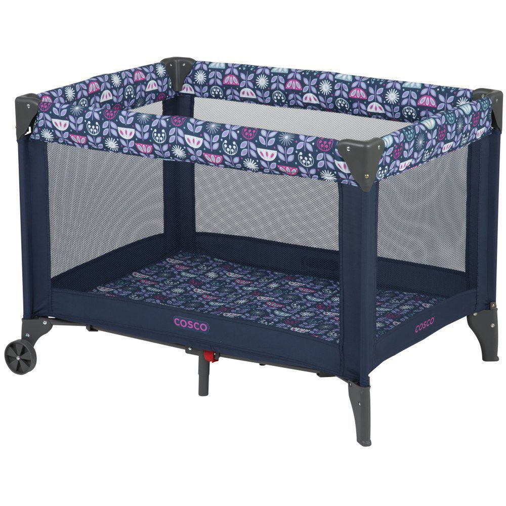 Baby crib playard - Baby Crib Playard Infant Playpen Toddler Foldable Bassinet Travel Portable Bed Cosco