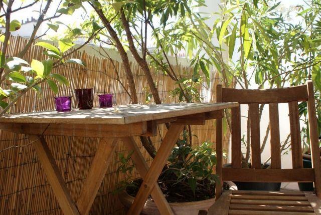 Bambus als Balkon-Sichtschutz  bambusmatten natürliche materialien idee