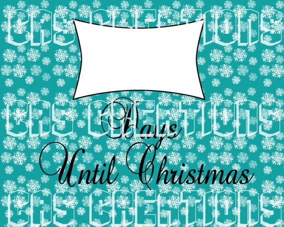 Christmas Countdown Printable by creativemommy1 on Etsy, $4.00