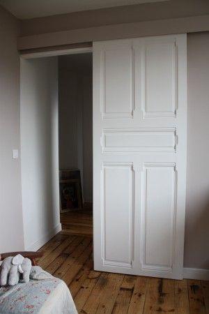 porte coulissante avec ancienne porte