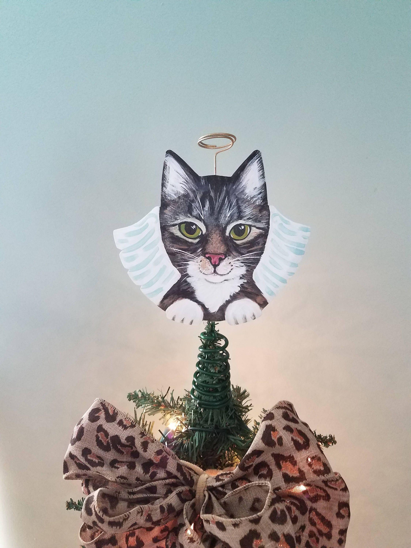 Tabby Cat Angel ~ Cat Tree Topper ~ Christmas Tree Topper ...