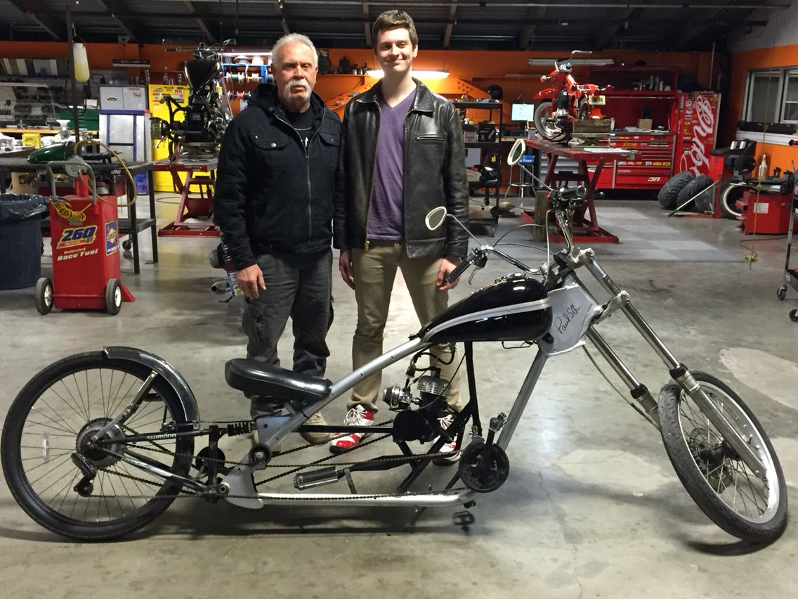 Tyler Got A Call From Paul Teutul Sr From Orange County Choppers And Took His Chopper Down To Meet Him Orange County Choppers Chopper Bike Custom Chopper