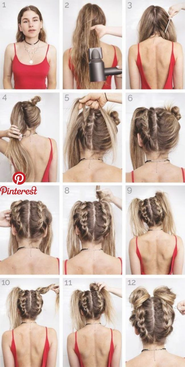 Easy Summer Hairstyles To Keep Your Time And Style Fryzury Style Fryzur Fryzura
