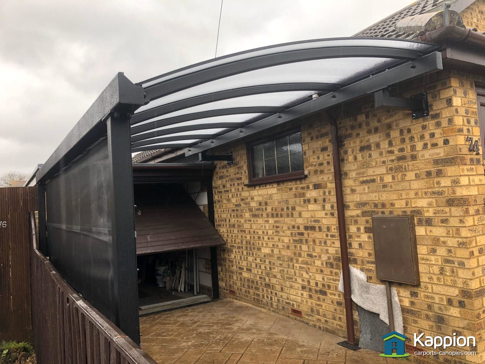Quarter Curved Carport installed in Essex By Kappion