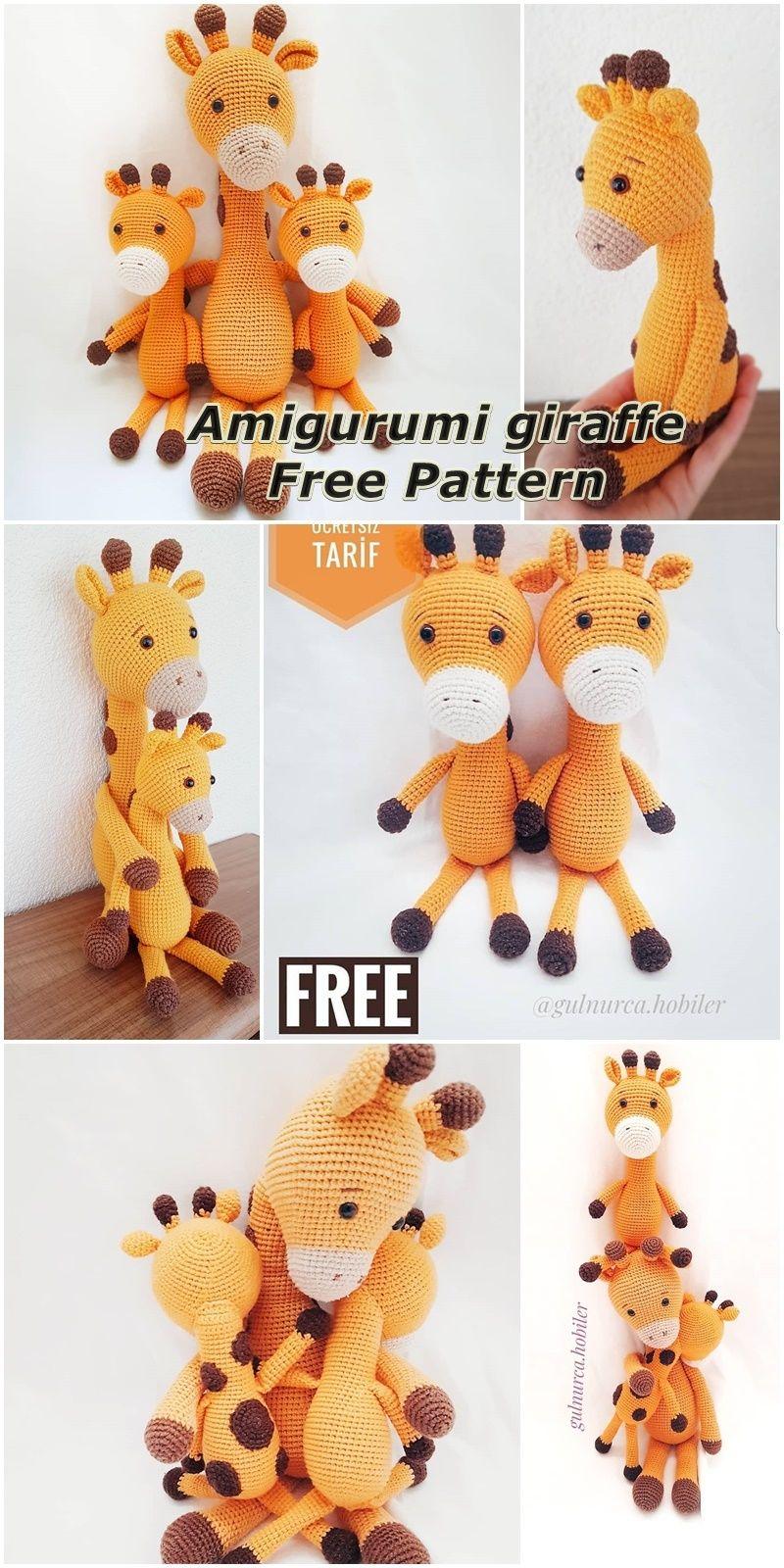 Amigurumi Crochet Pattern - Stanley the Giraffe (With images ... | 1600x800