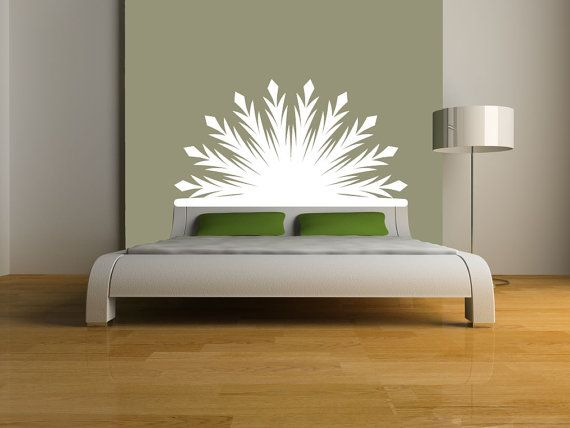 Best Radiant Headboard Vinyl Wall Decal Bed Sticker Art Room 640 x 480