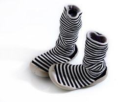 striped slipper socks