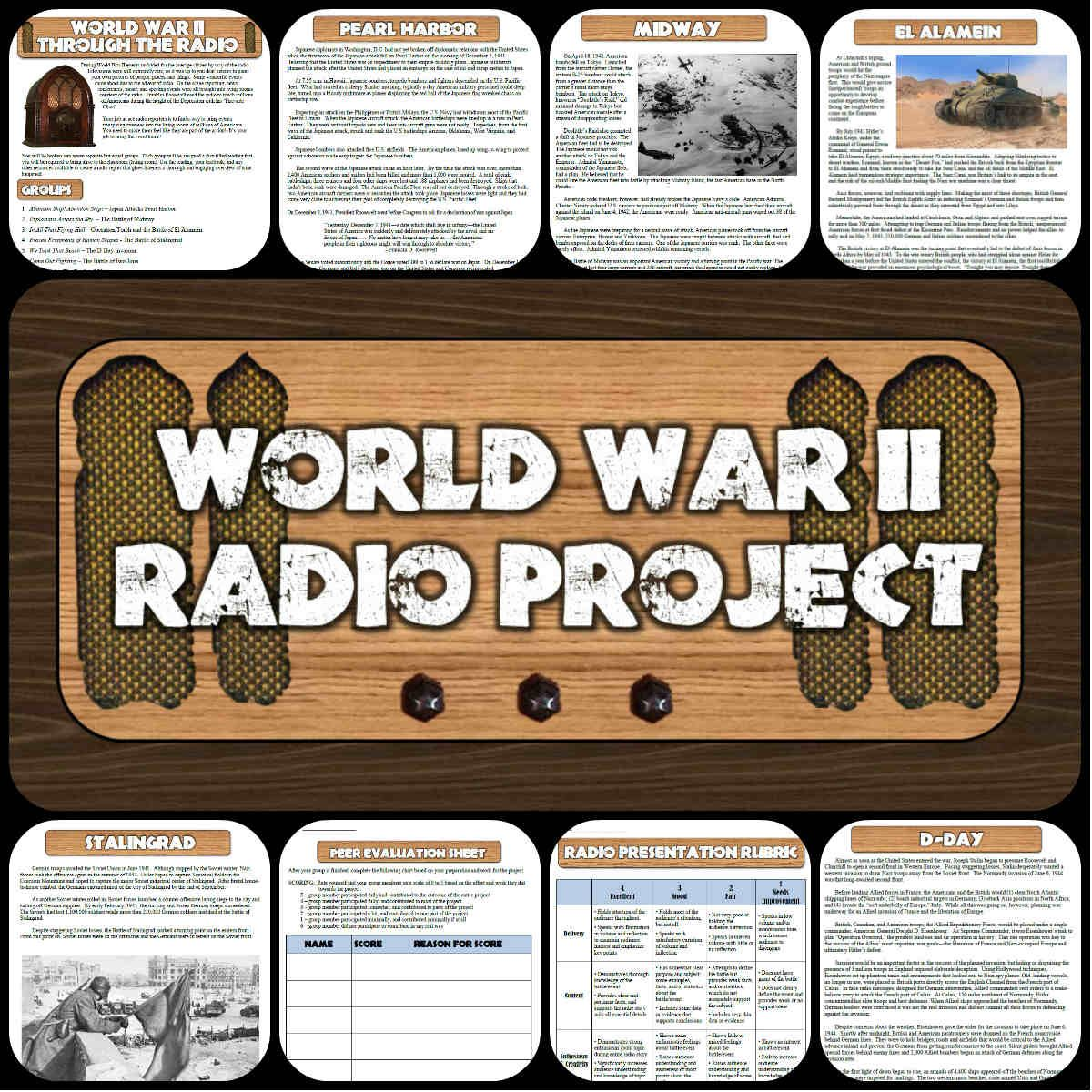 battles of world war ii radio show project creative technology this cooperative learning project for world war ii has students about 7 key battles and