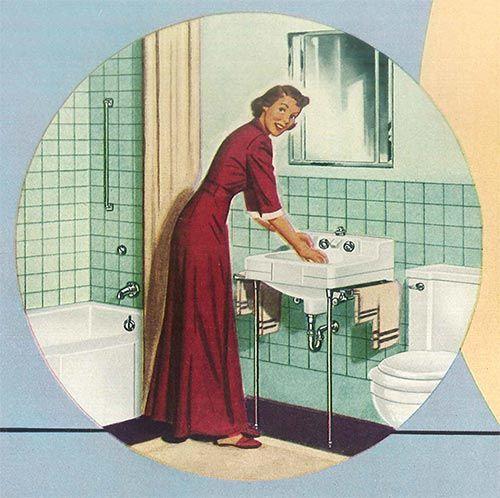 24 Pages Of Vintage Bathroom Design Ideas From Crane  1949 Unique 1940 Bathroom Design Review